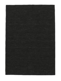 Kilim Loom - Noir Tapis 160X230 Moderne Tissé À La Main Noir (Laine, Inde)