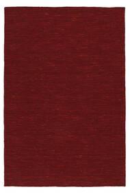 Kilim Loom - Rouge Foncé Tapis 120X180 Moderne Tissé À La Main Rouge (Laine, Inde)