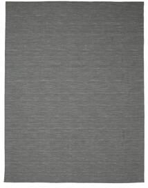 Kilim Loom - Gris Foncé Tapis 300X400 Moderne Tissé À La Main Vert Foncé/Gris Clair Grand (Laine, Inde)