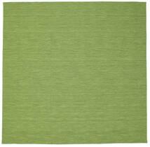 Kilim Loom - Vert Tapis 300X300 Moderne Tissé À La Main Carré Vert Olive/Vert Clair Grand (Laine, Inde)