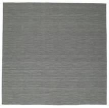Kilim Loom - Gris Foncé Tapis 300X300 Moderne Tissé À La Main Carré Vert Foncé/Gris Clair Grand (Laine, Inde)