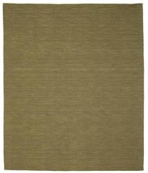 Kilim Loom - Olive Tapis 250X300 Moderne Tissé À La Main Vert Olive Grand (Laine, Inde)