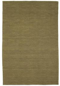 Kilim Loom - Olive Tapis 200X300 Moderne Tissé À La Main Vert Olive (Laine, Inde)