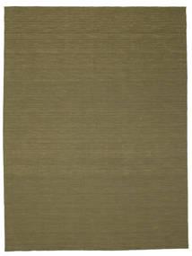 Kilim Loom - Olive Tapis 300X400 Moderne Tissé À La Main Vert Olive Grand (Laine, Inde)