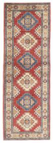 Kazak Tapis 63X185 D'orient Fait Main Tapis Couloir Rouille/Rouge/Gris Clair (Laine, Pakistan)