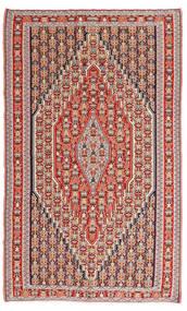 Kilim Senneh Tapis 150X245 D'orient Tissé À La Main Marron/Rouille/Rouge (Laine, Perse/Iran)