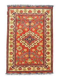 Afghan Kargahi Tapis 84X122 D'orient Fait Main Rouge/Beige Foncé (Laine, Afghanistan)