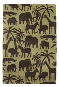 Africa Handtufted Tapis 120X180 Moderne Marron Foncé/Vert Olive/Vert Clair (Laine, Inde)