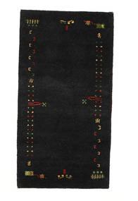 Gabbeh Indo Tapis 74X140 Moderne Fait Main Noir (Laine, Inde)