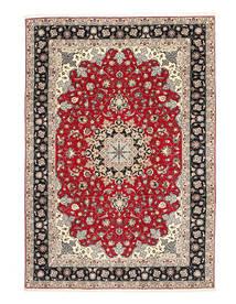 Tabriz 50 Raj Chaîne De Soie Tapis 200X310 D'orient Fait Main Gris Clair/Gris Foncé (Laine/Soie, Perse/Iran)