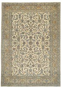 Kashan Patina Signé: Tabatabai Tapis 275X390 D'orient Fait Main Beige/Gris Foncé Grand (Laine, Perse/Iran)