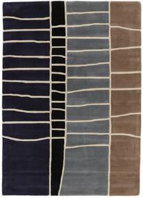 Abstract Bambou Handtufted Tapis 160X230 Moderne Violet Foncé/Gris Clair (Laine, Inde)