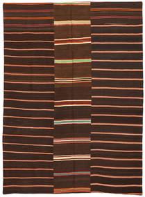 Kilim Patchwork Tapis 175X241 Moderne Tissé À La Main Marron Foncé/Rouge Foncé (Laine, Turquie)