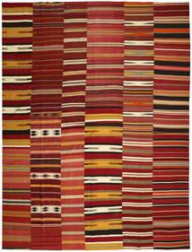 Kilim Patchwork Tapis 355X444 Moderne Tissé À La Main Rouge Foncé/Rouge Grand (Laine, Turquie)