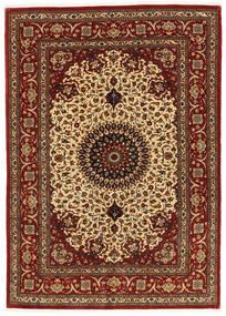 Ghom Kork/Soie Tapis 137X197 D'orient Fait Main Marron Foncé/Rouge Foncé (Laine/Soie, Perse/Iran)