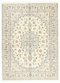 Naïn 9La Tapis 146X200 D'orient Fait Main Beige/Gris Clair (Laine/Soie, Perse/Iran)