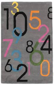 Lucky Numbers - Gris Tapis 100X160 Moderne Marron Foncé/Gris Foncé (Laine, Inde)
