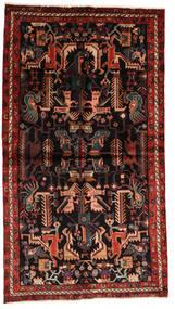 Nahavand Tapis 137X245 D'orient Fait Main Rouge Foncé/Marron Foncé (Laine, Perse/Iran)