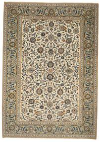 Kashan Patina Tapis 214X302 D'orient Fait Main Marron Clair/Gris Clair (Laine, Perse/Iran)