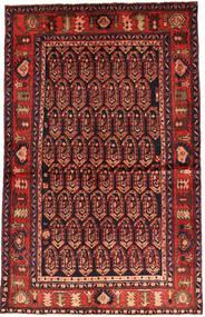 Nahavand Tapis 130X206 D'orient Fait Main Rouge Foncé/Rouille/Rouge (Laine, Perse/Iran)