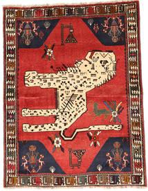 Ghashghaï Tapis 121X159 D'orient Fait Main Marron Foncé/Beige (Laine, Perse/Iran)