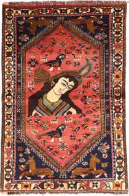 Ghashghaï Tapis 105X160 D'orient Fait Main Marron Foncé/Noir (Laine, Perse/Iran)