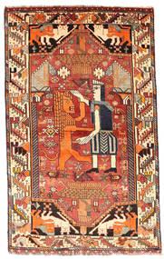 Ghashghaï Tapis 103X169 D'orient Fait Main Marron Foncé/Rouge Foncé (Laine, Perse/Iran)