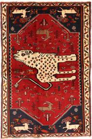 Ghashghaï Tapis 134X211 D'orient Fait Main Rouge Foncé/Rouille/Rouge (Laine, Perse/Iran)