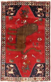 Ghashghaï Tapis 129X208 D'orient Fait Main Rouille/Rouge/Rouge Foncé (Laine, Perse/Iran)