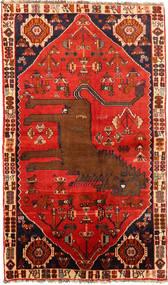Ghashghaï Tapis 130X220 D'orient Fait Main Rouille/Rouge/Marron Foncé (Laine, Perse/Iran)
