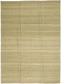 Kilim Moderne Tapis 208X282 Moderne Tissé À La Main Vert Clair/Vert Olive (Laine, Afghanistan)