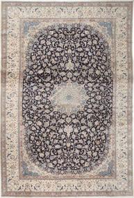 Naïn 9La Tapis 408X610 D'orient Fait Main Gris Clair/Gris Foncé Grand (Laine/Soie, Perse/Iran)