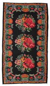 Kilim Rose Moldavia Tapis 182X330 D'orient Tissé À La Main Noir/Rouge Foncé (Laine, Moldavie)
