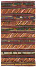 Kilim Semi-Antique Turquie Tapis 144X260 D'orient Tissé À La Main Marron Foncé/Rouge Foncé (Laine, Turquie)