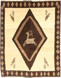 Ghashghaï Tapis 154X194 D'orient Fait Main Jaune/Marron Foncé (Laine, Perse/Iran)