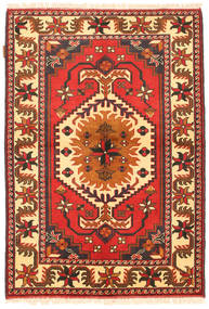 Kazak Tapis 105X154 D'orient Fait Main Orange/Beige (Laine, Pakistan)