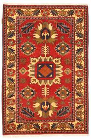 Kazak Tapis 101X158 D'orient Fait Main Rouille/Rouge/Marron Foncé (Laine, Pakistan)