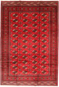 Turkaman Tapis 201X293 D'orient Fait Main Rouille/Rouge/Rouge Foncé/Rouge (Laine, Perse/Iran)
