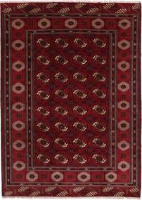 Turkaman Tapis 208X287 D'orient Fait Main Rouge Foncé/Marron Foncé (Laine, Perse/Iran)