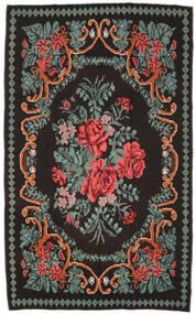 Kilim Rose Moldavia Tapis 171X278 D'orient Tissé À La Main Noir/Gris Foncé (Laine, Moldavie)