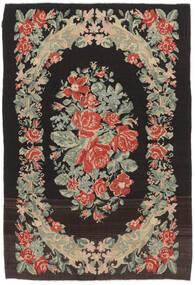 Kilim Rose Moldavia Tapis 169X252 D'orient Tissé À La Main Noir/Beige Foncé (Laine, Moldavie)