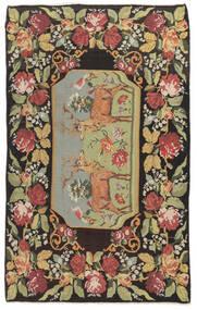 Kilim Rose Moldavia Tapis 178X295 D'orient Tissé À La Main Gris Foncé/Beige Foncé (Laine, Moldavie)