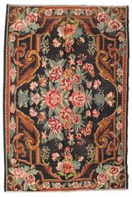 Kilim Rose Moldavia Tapis 184X277 D'orient Tissé À La Main Noir/Gris Foncé (Laine, Moldavie)