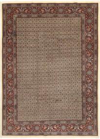 Moud Sherkat Farsh Tapis 203X283 D'orient Fait Main Gris Clair/Rouge Foncé (Laine/Soie, Perse/Iran)