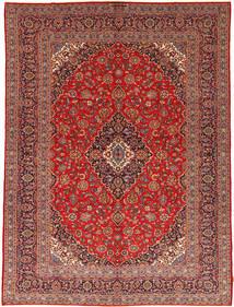 Kashan Tapis 292X395 D'orient Fait Main Rouge Foncé/Rouille/Rouge Grand (Laine, Perse/Iran)