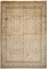 Cachemire Pure Soie Tapis 306X436 D'orient Fait Main Marron Clair/Beige Grand (Soie, Inde)