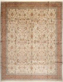 Cachemire Pure Soie Tapis 304X389 D'orient Fait Main Marron/Beige/Gris Clair Grand (Soie, Inde)