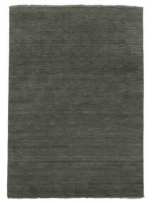 Handloom Fringes - Gris Foncé Tapis 200X300 Moderne Gris Foncé (Laine, Inde)