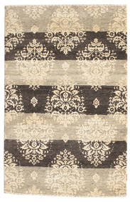 Gabbeh Loribaft Tapis 120X185 Moderne Fait Main Beige/Gris Clair (Laine, Inde)