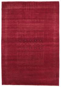 Gabbeh Loribaft Tapis 152X222 Moderne Fait Main Rouge/Rouge Foncé (Laine, Inde)